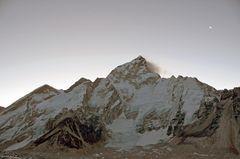 Panorama kurz nach dem Start zum Gipfel des Kala Pattar
