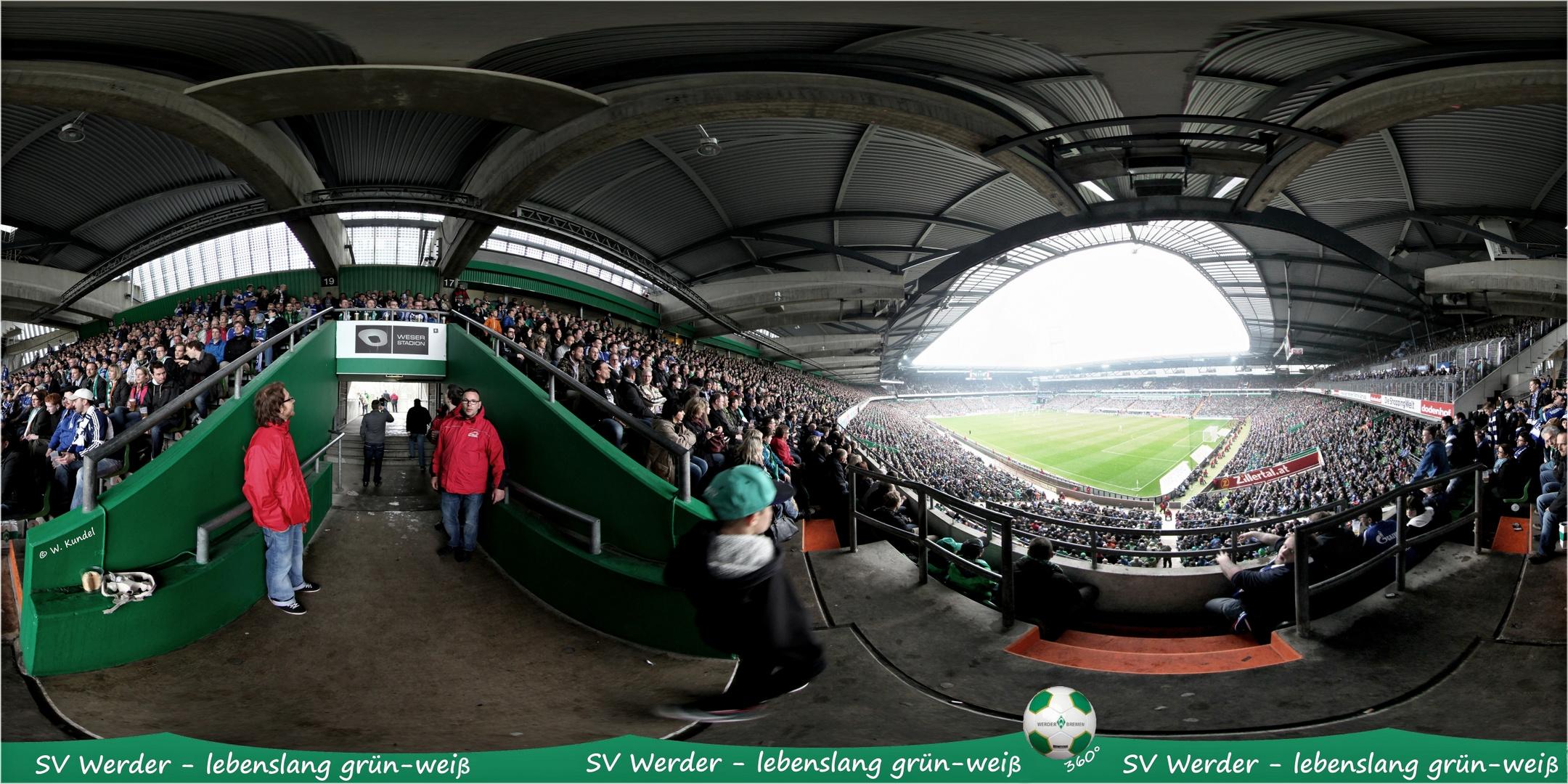 Panorama lebenslang grün-weiß im Weserstadion