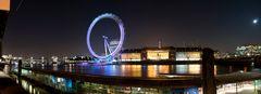 Panorama - Londoneye bei Nacht
