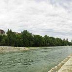 [Panorama] ... Neue Stufenanlage Wittelsbacher Brücke ...