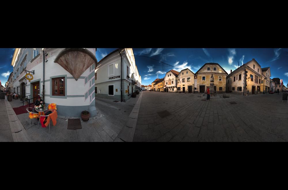 panorama of a small town