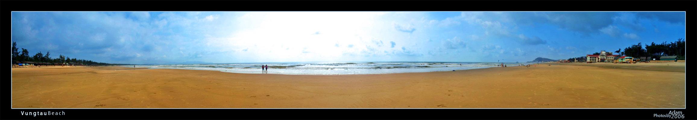 Panorama of VungTau Beach