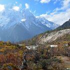 Panorama südlich von Bhimtang auf dem Manaslu-Trek