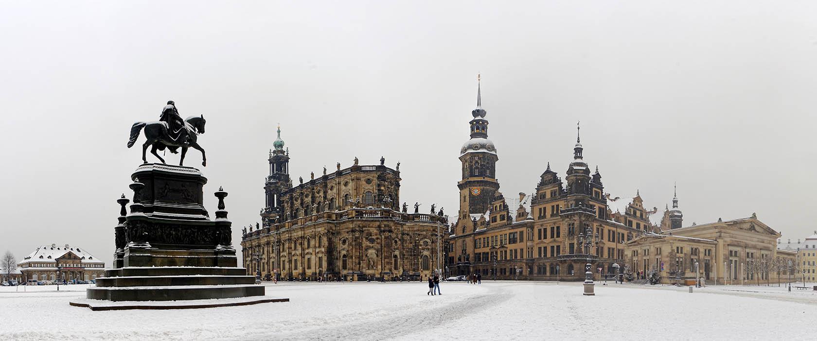 Panorama Theaterplatz Dresden