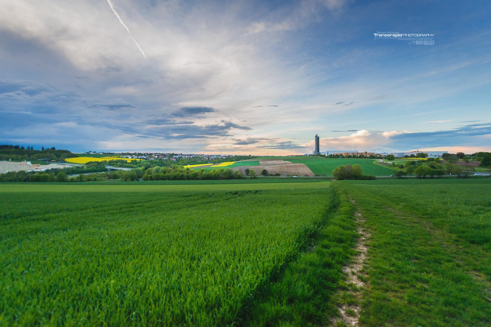 Panorama Ulm Lehr und Jungingen Industriegebiet