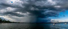 Panorama vom Ammersee mit Gewitter