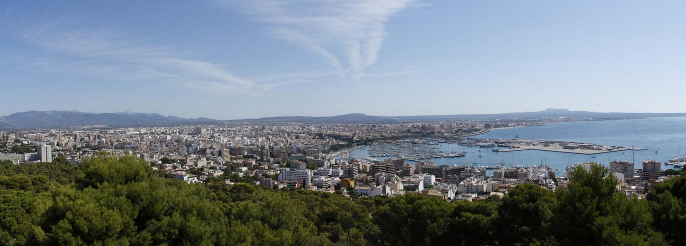 Panorama vom Belvedere in Palma de Mallorca