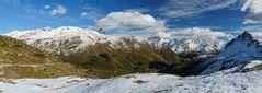 Panorama vom Bernina-Pass Richtung Süden