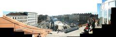 Panorama vom Dach der Hauptbücherei Wien