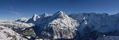 Panorama vom Schilthorn - Eiger, Mönch und Jungfrau