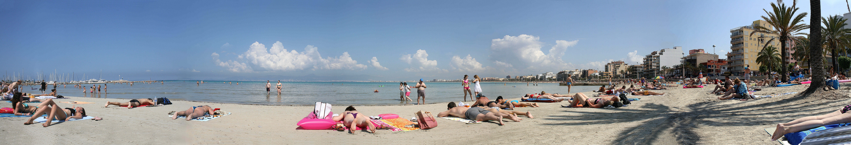 Panorama vom Strand von S`Arenal aus 5 Fotos