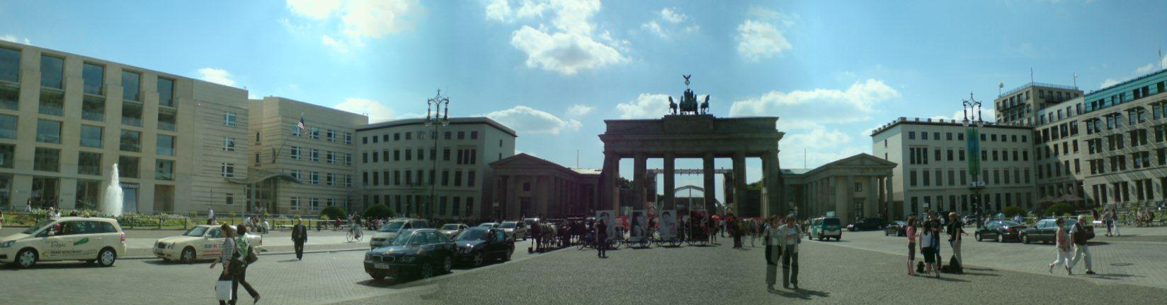 Panorama von Brandenburger Tor