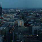 Panorama von der Alster bis zum Dom