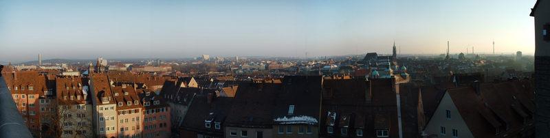 Panorama von der Nürnberger Burg