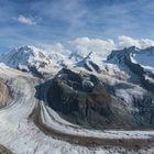 Panorama Walliser Alpen