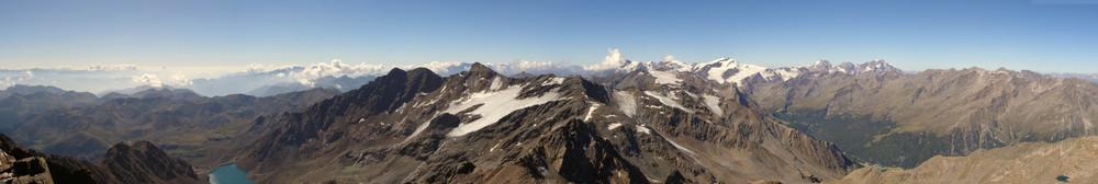 Panorama Zufritt-Spitze (3.439 m)