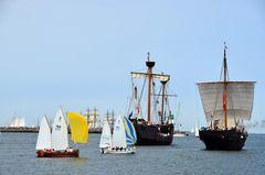 Panorama zur Hanse Sail 2013 vor Warnemünde