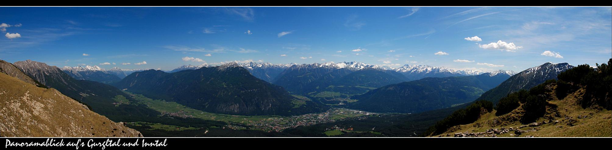 ~~ Panoramablick auf's Gurgltal und Inntal ~~