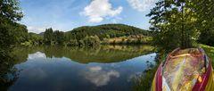 Panoramablick über den größten See der Bockernteiche!