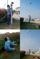 "Panoramic photo of the dock ""Marina Fiorita"": the big tripod"