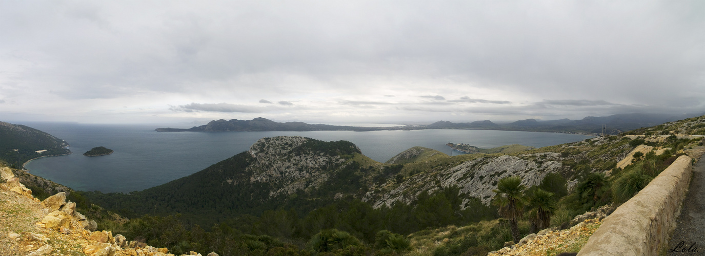 Panoramica Bahía de Pollença.