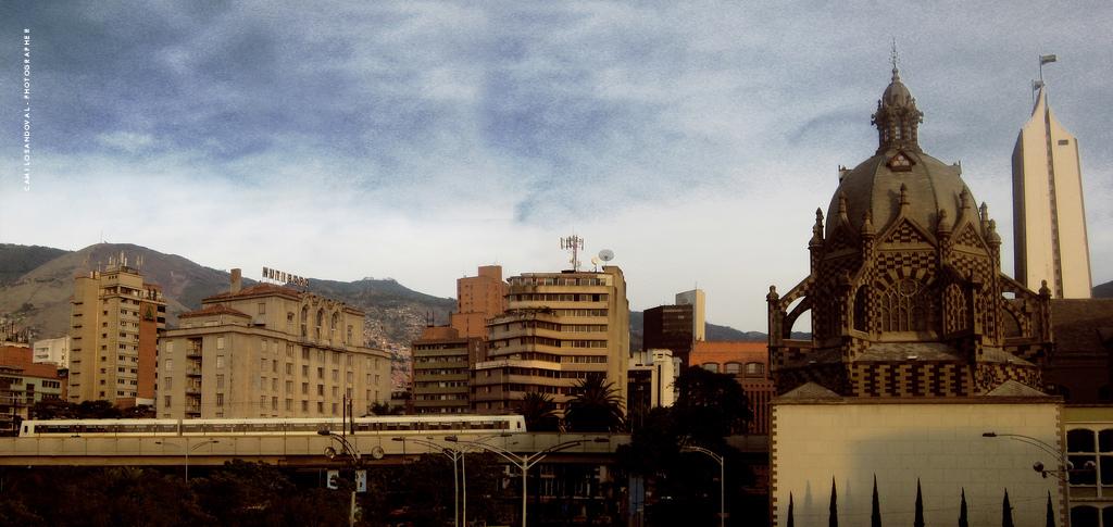 Panorámica centro de Medellín