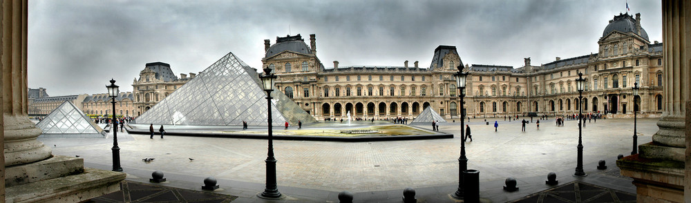 panorámica del Louvre
