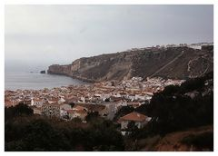 Panoramica del villaggio di pescatori di Nazarè.