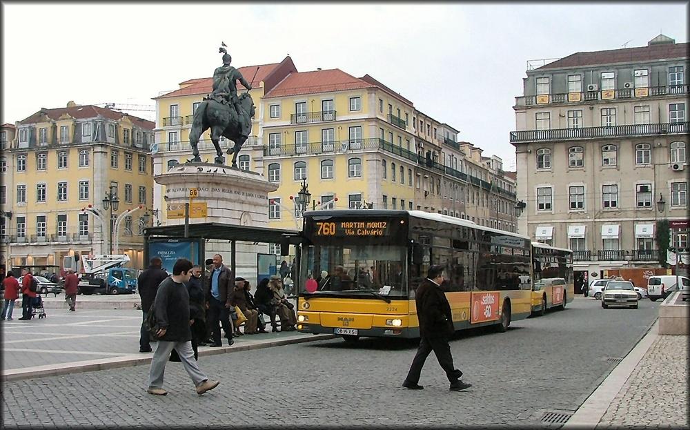 Panoramica della Praça da Figueira