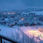 Panoramica invernale dal mio balcone