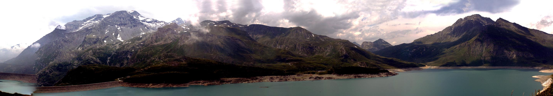 Panoramique du barrage, Haute Savoie