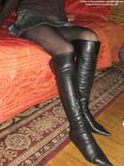 Pantyhose Boots