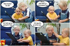 Papas Laptop...