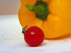 Paprika und Tomate
