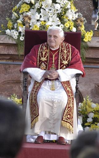 Papstbesuch am Münchner Marienplatz