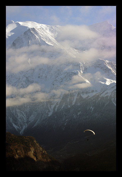Para au Mont-Blanc