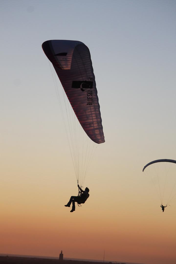 Paraglider ganz nah !!