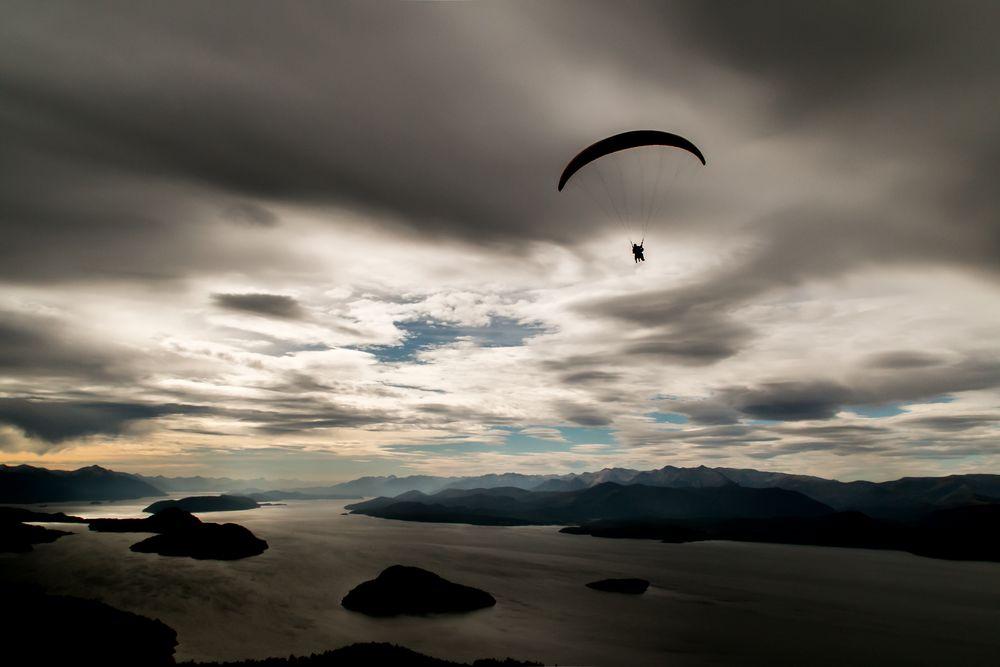 Paragliding at Nahuel Huapi