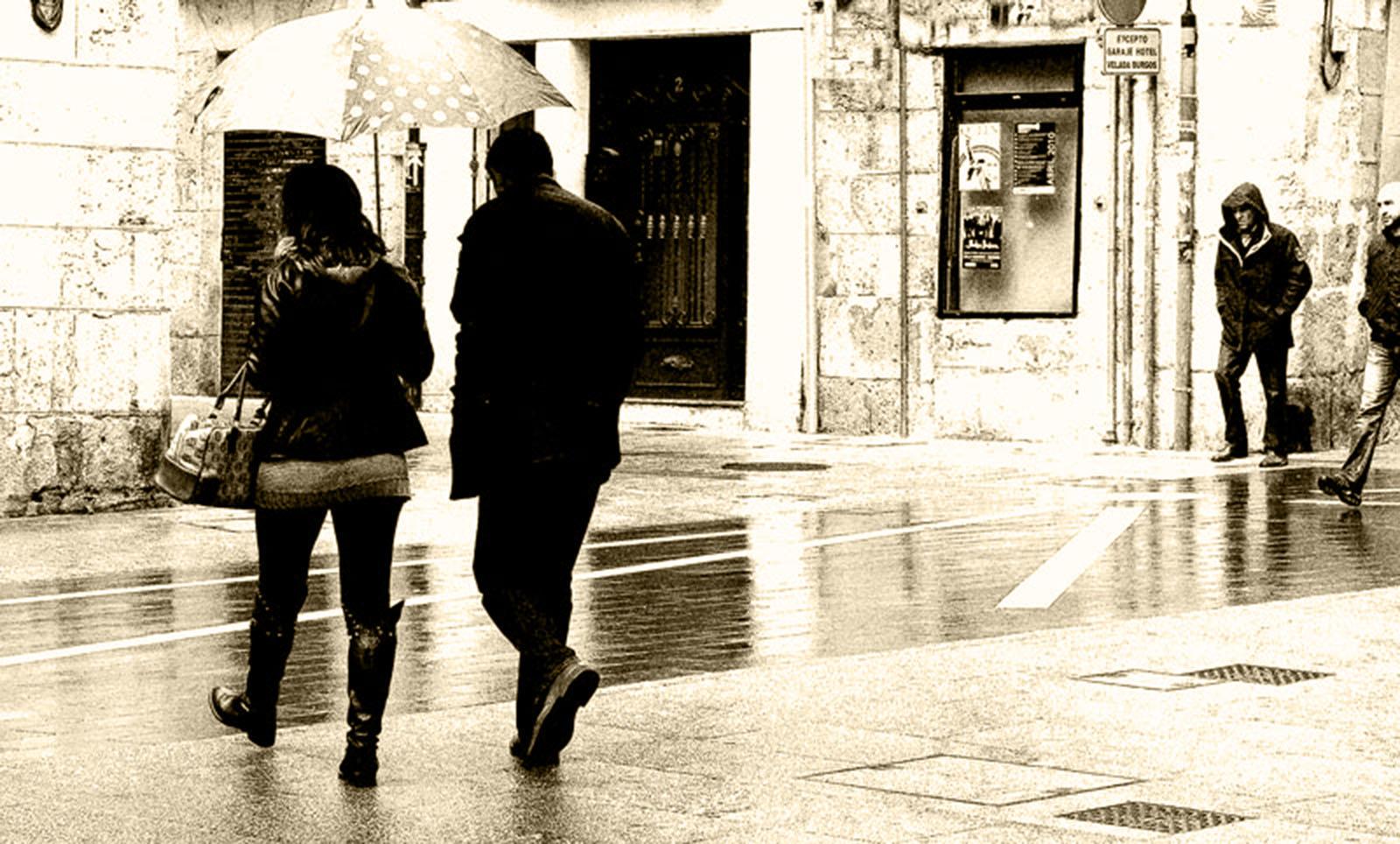 Paraguas para dos.