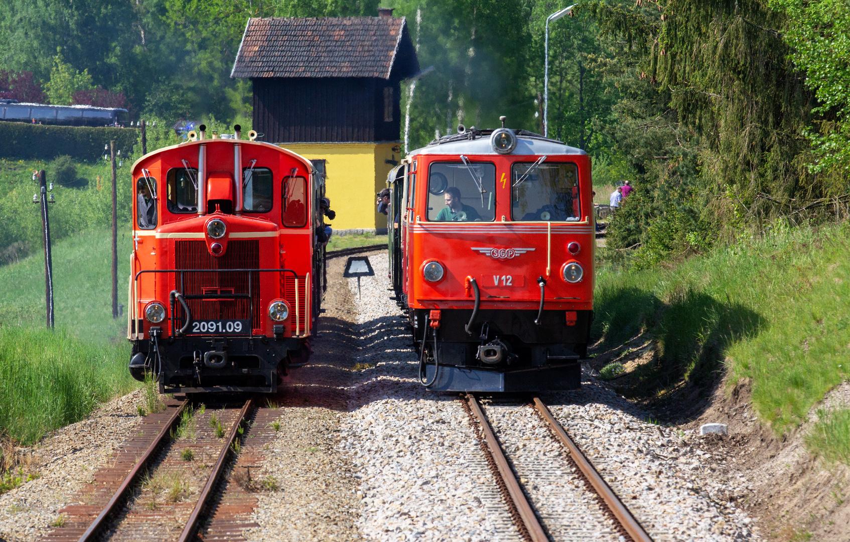 Parallelausfahrt von Alt-Nagelberg mit Dieseltraktion