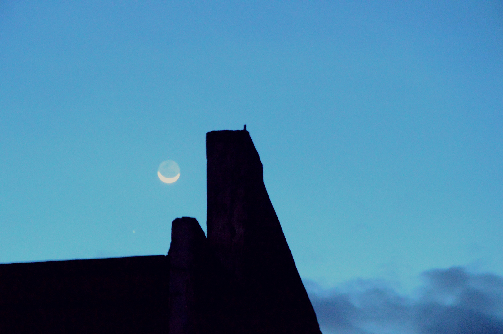 Parapet and the moon