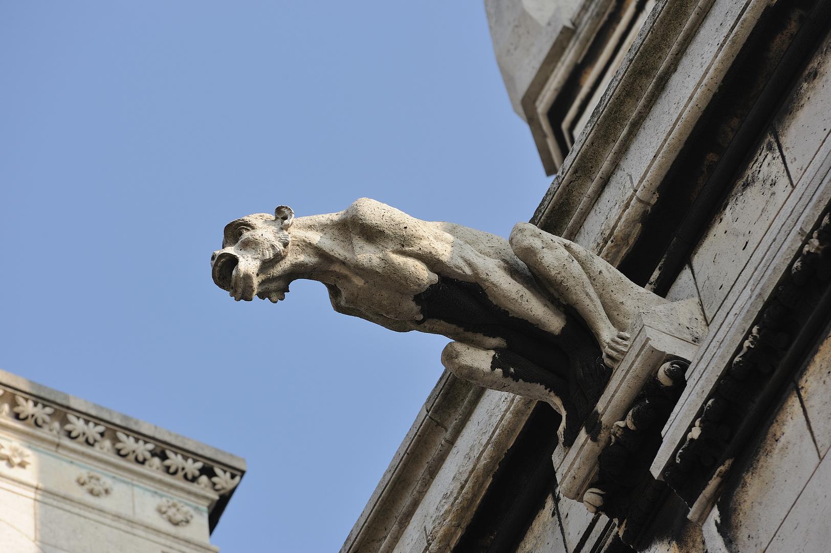 Parigi : gargoyle du Sacre Coeur