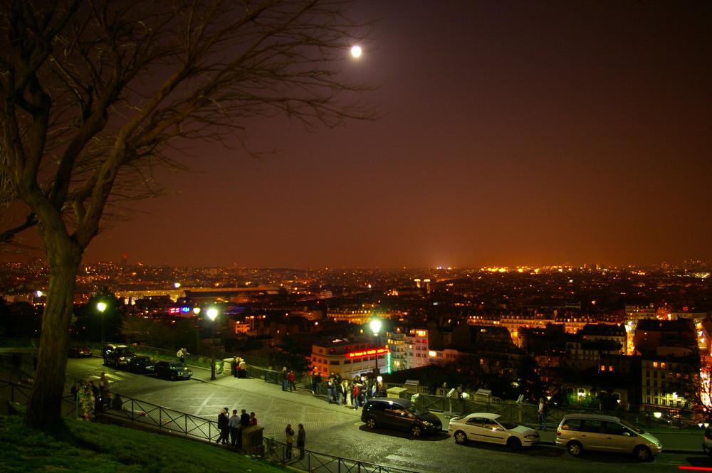 Paris bei Nacht - Blick vom Montmatre