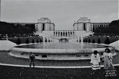 Paris, Jardins du Trocadéro, schwarz, weiss