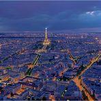 ...Paris vom Tour Montparnasse...