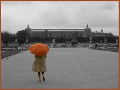 Paris - Walking in the rain