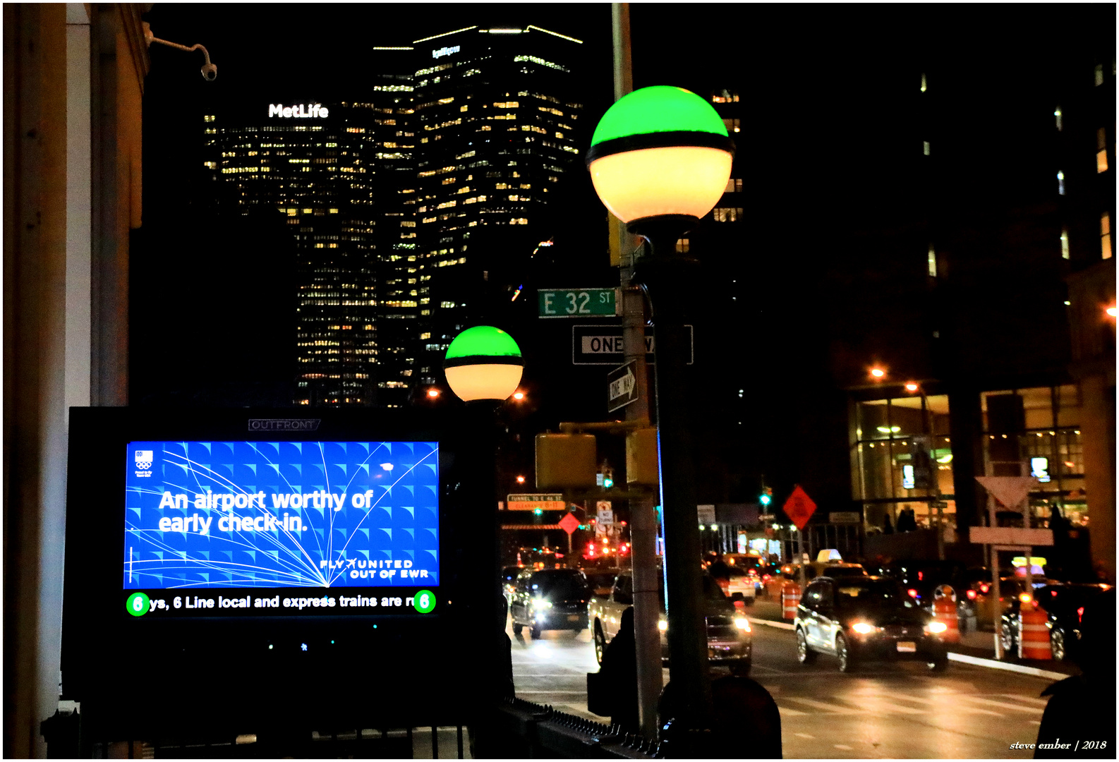 Park Ave Nightscape No.3 - Rush Hour