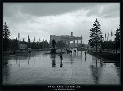 Park. Rain. Umbrellas