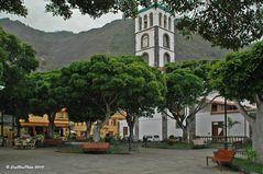 Parkanlage in Garachico mit Kirche