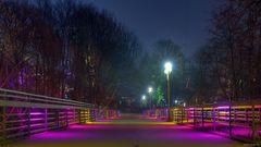 Parkleuchten 2011 - Rotlichtbrücke